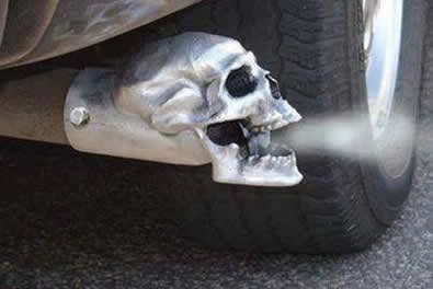 Cool Ass Parts Skull And Flame Exhaust Tips Hitch